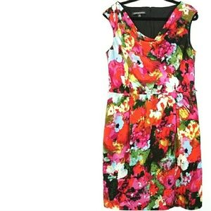 14 Jones Wear Dress Multicolor Drape Neck Dress